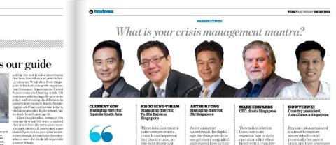 What is your crisis management mantra?