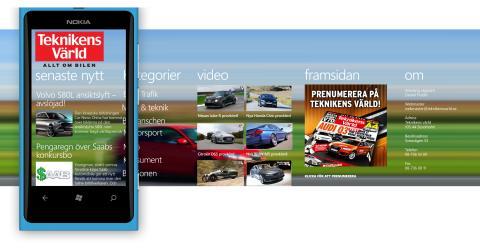 Teknikens Världs app för Windows Phone