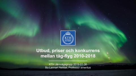 Utbud, priser och konkurrens mellan tåg-flyg 2010-2018