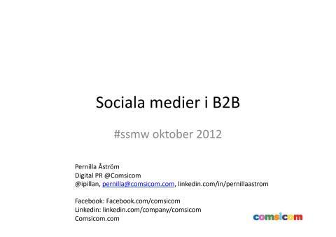 Sociala medier i B2B