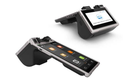 Nu lanserar vi vår bärbara betalnings/kassaterminal med en integrerad 8 tums Androidskärm