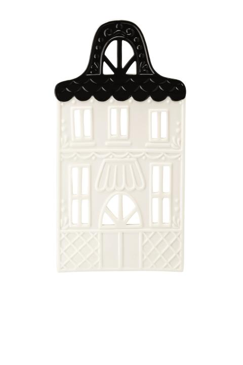 HR_Little_Christmastown_Front 7 white-black_Tea light house