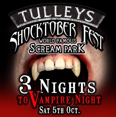 Just Three Nights until Tulleys Halloween Festival begins!