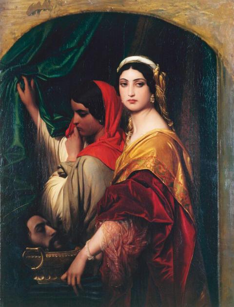 Paul Delaroche, Heroidas mit dem Haupt Johannes des Täufers, 1843