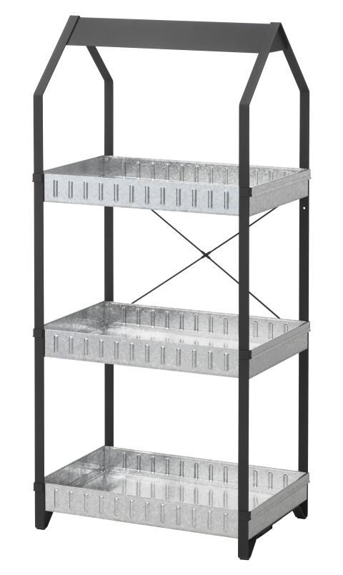 KRYDDA stativ til dyrkningssæt i 3 etager, 55x35 cm, 599.-