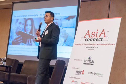 Ani Bhalekar, Accenture, speaks at AsiaConnect in Singapore, 3 Sep 2014