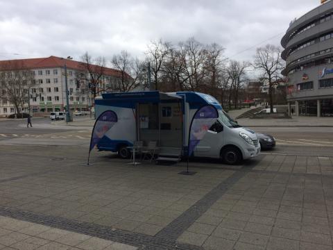 Beratungsmobil der Unabhängigen Patientenberatung kommt am 10. März nach Frankfurt an der Oder.