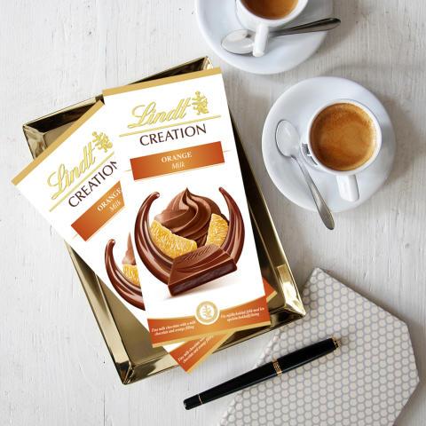 Upptäck nya Lindt Création Orange – en njutningsfull smak perfekt för hösten.