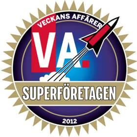 Veckans Affärer och PAR utser Antura till 1 av 317 Superföretag i Sverige