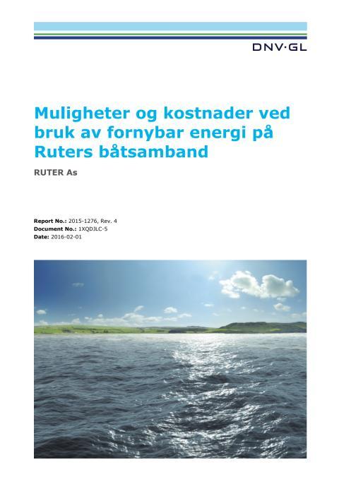Muligheter og kostnader ved bruk av fornybar energi på Ruters båtsamband