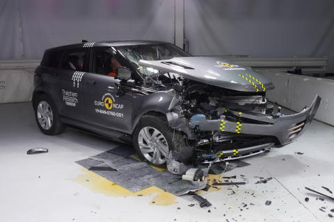 Citroen C5 Aircross Frontal offset impact test April 2019