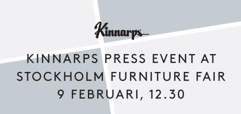 Välkommen till Kinnarps pressträff under Stockholm Furniture Fair