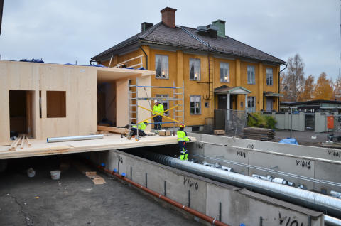 Bygge av ny restaurang