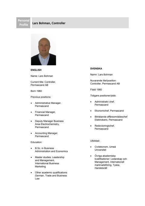 Lars Bohman - Personprofil