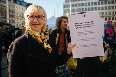 Margot Wallström, Barnvagnsmarschen 2016