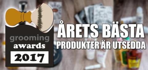 Grooming Awards 2017 - årets bästa produkter för män!