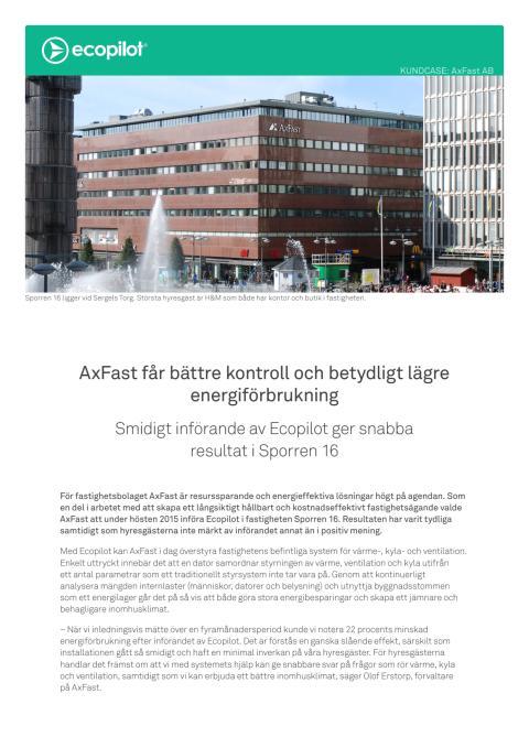 Kundcase: AxFast får bättre kontroll och betydligt lägre energiförbrukning