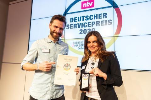 PaulCamper erhält Deutschen Servicepreis 2020 in der Kategorie Reisen