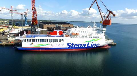 Trafikstart för Stena Vinga på Göteborg-Frederikshavn
