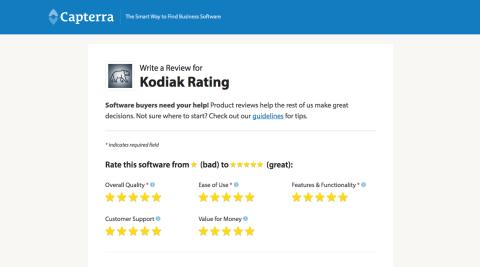 Kodiak Rating's Software; now listed on Capterra!
