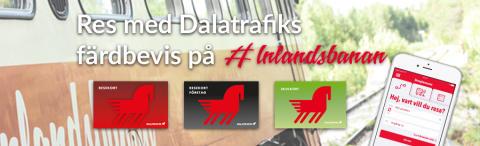 Resa med Dalatrafiks färdbevis på Inlandsbanan