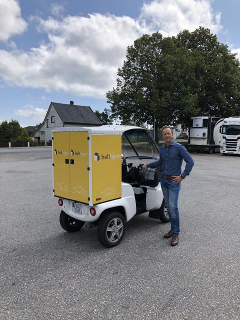 helthjem tester norskprodusert el-kjøretøy