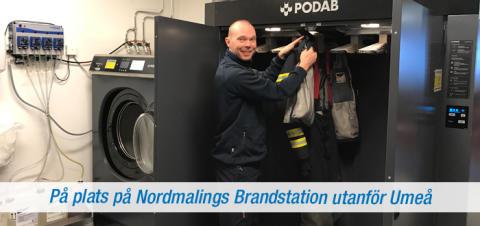 Ny tvätt- och torkutrustning hos Räddningstjänsten i Nordmaling