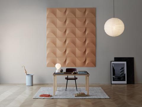 Internationellt uppmärksammad formgivare skapar väggpanel i kork för Abstracta