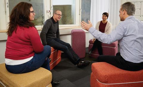 Kreativt möte i Åkrokens innovationsrum