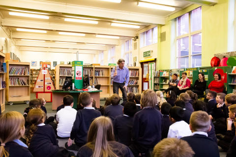 Literacy Hero wows young audience at Bury Library