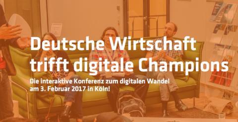 Deutsche Wirtschaft trifft digitale Champions