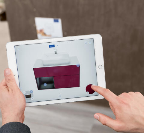 B2B: Villeroy & Boch's new Augmented Reality app -   a virtual expansion of the bathroom showroom
