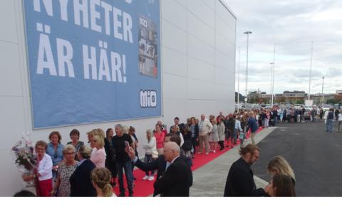 Stort intresse vid öppningen av Kungsbackas nya destination för möbler och heminredning