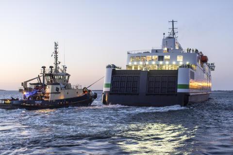Scandlines' neue Fähre verlässt dänische Werft