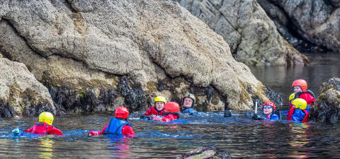 Coasteering at Portknockie