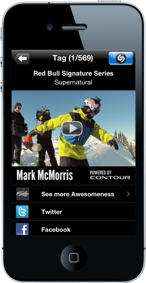 Supernatural Snowboarding Competition gets Super Shazam-enabled on NBC as part of Red Bull Signature Series