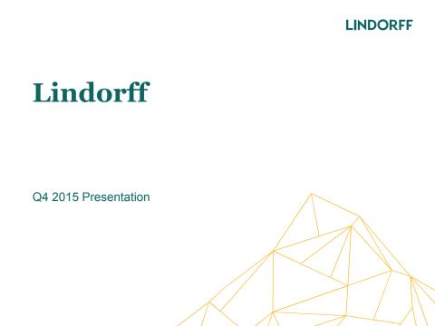 Lindorff Group Q4/2105 presentation