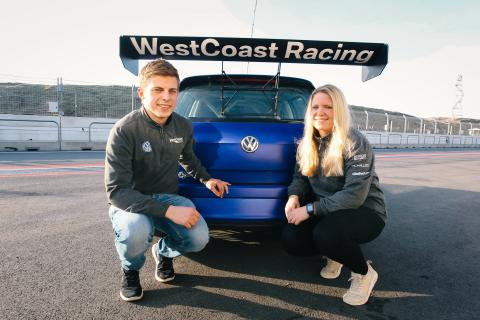 WestCoast Racing åter i STCC -  med STCC-debutanterna Andreas och Jessica Bäckman