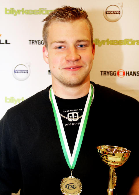 Oskar Ågren från Malenagymnasiet i Sjöbo vann kvaltävling till Yrkes-SM i Klippan