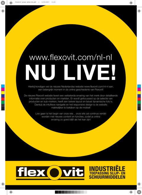 Flexovit lanceert een nieuwe website