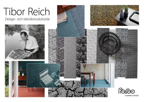 Forbo Flooring hyllar brittiske design-ikonen Tibor Reich med en helt ny golvserie – Flotex Tibor Reich Collection