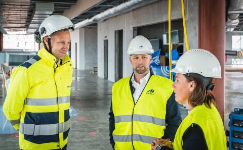 Från vänster Viktor Svensson och Peter Syrén och Maria Ekström