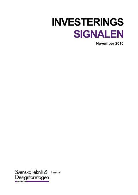 Investeringssignalen - November 2010