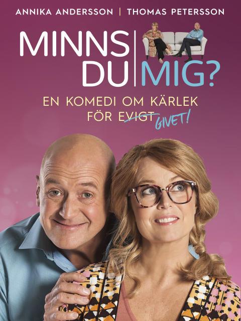 Fredag den 22 september är det äntligen premiär för MINNS DU MIG? på Lisebergsteatern - en komedi med Annika Andersson och Thomas Petersson