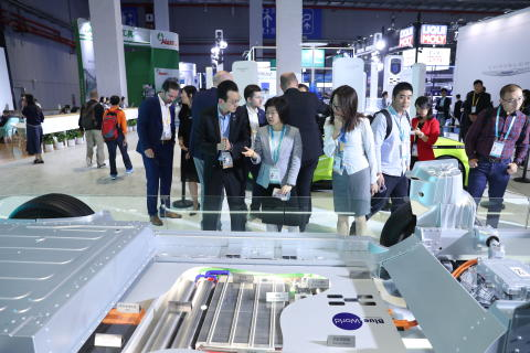 Blue World Technologies and AIWAYS' hybrid methanol fuel cell system displayed at CIIE 2019