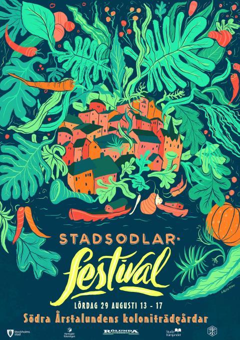 Stadsodlarfestival vid Södra Årstalundens koloniområde lördag 29 augusti Välkommen!