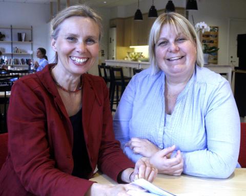 Maria Lindh och Birgitta Wallin