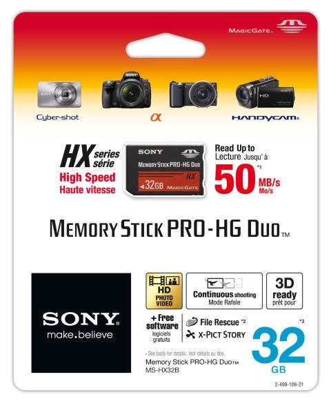 Memory Stick PRO-HG Duo™ HX von Sony