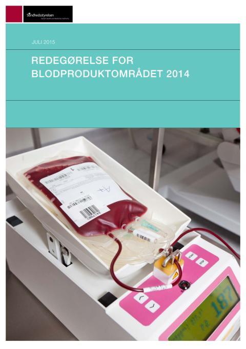 Redegørelse for blodproduktområdet 2014