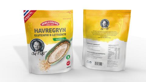 Møllerens Havregryn Glutenfri og Lettkokt, 550 gr